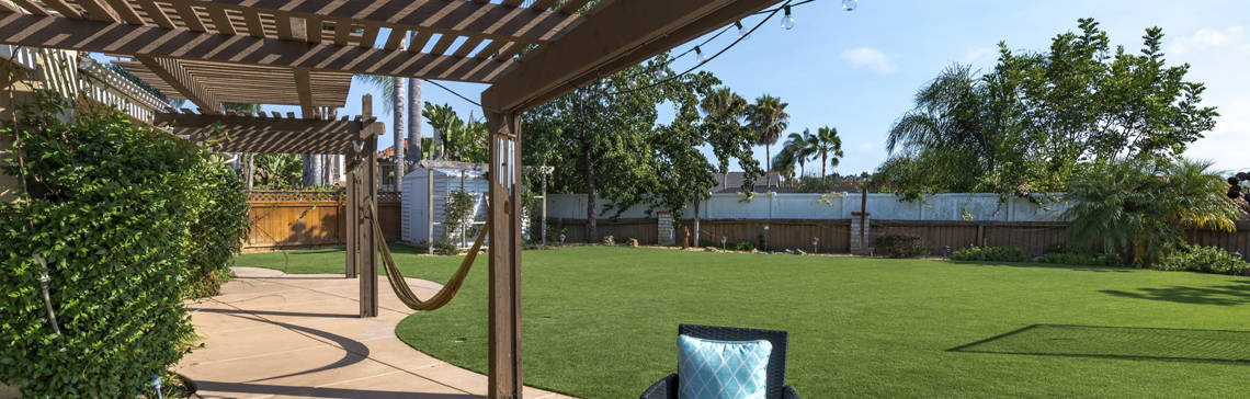 Artificial Grass backyard