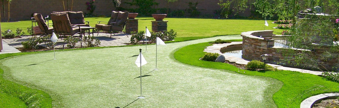 how to build a golf green at home