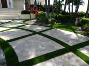 Pavers Pair Perfectly With EasyTurf Artificial Grass. This Combination Of  Materials Adds Color And Dimension To The Backyard Space. Moreover, The  Hard Stone ...